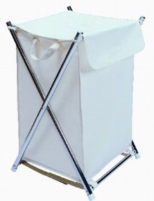 Chrome X Frame Laundry Hamper 210.87.103